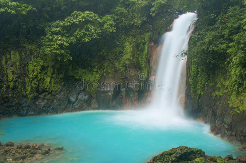 Wasserfall-Spray stockfoto