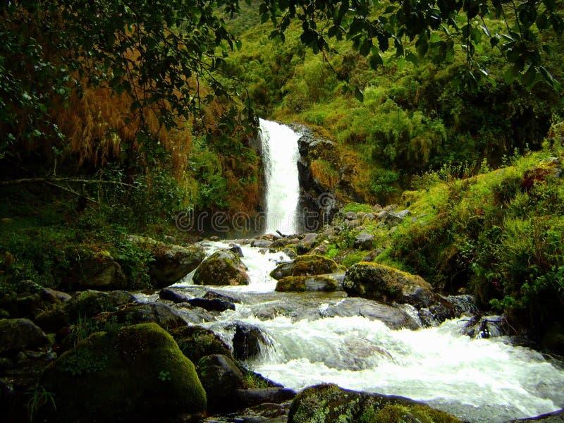 Wasserfall und Fluss lizenzfreie stockbilder