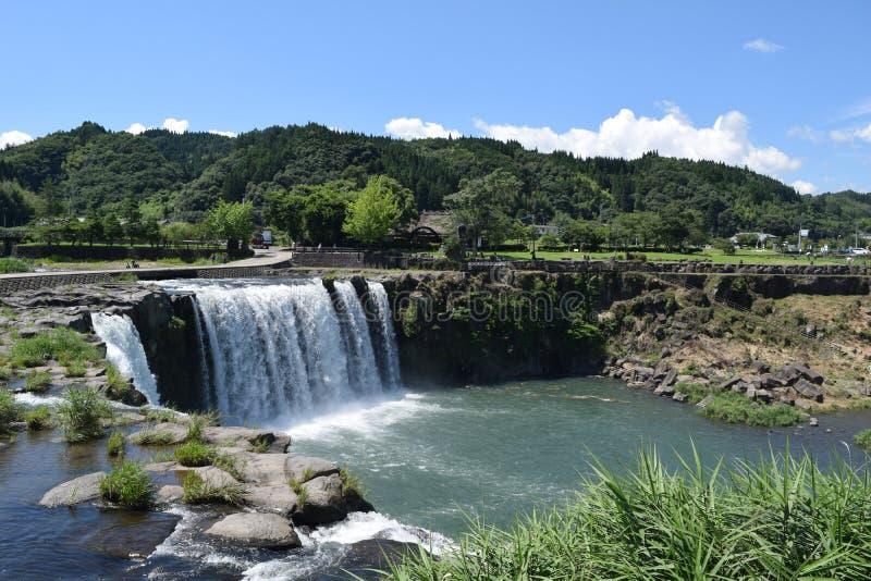 Wasserfall von Harajiri lizenzfreie stockfotos