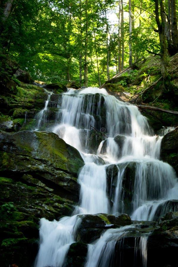 Wasserfallflüstern stockfoto