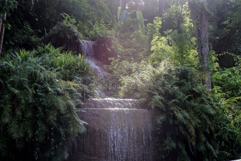 Wasserfallpoollandschaft lizenzfreie stockbilder