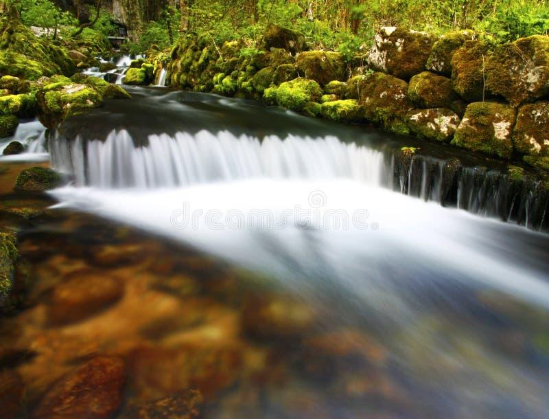 Wasserfallstromlandschaft stockfoto