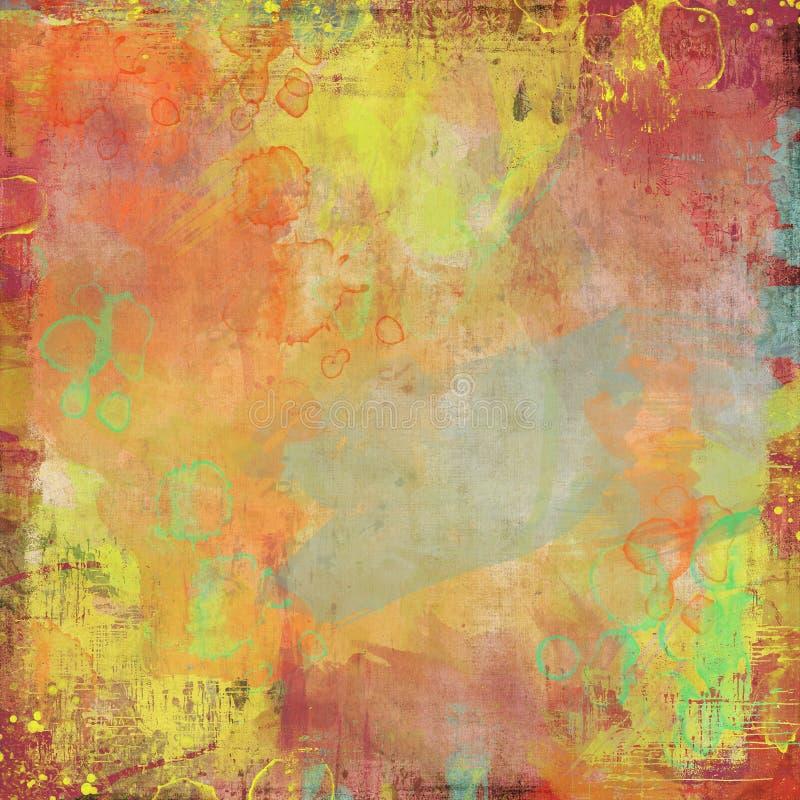 Wasserfarbe gemalter Künstlerhintergrund lizenzfreie abbildung