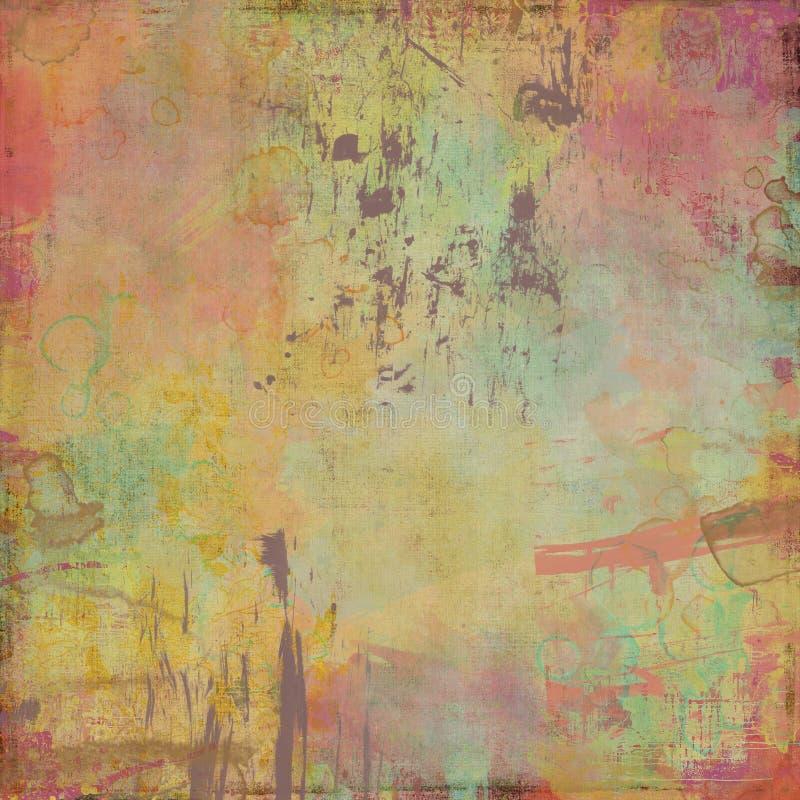 Wasserfarbe gemalter Künstlerhintergrund vektor abbildung