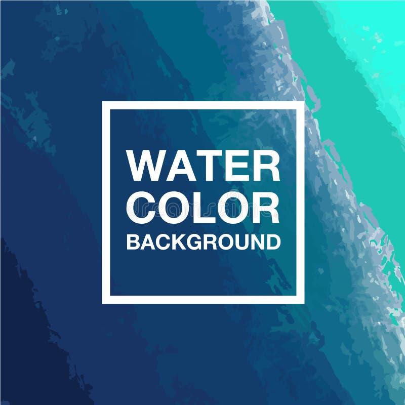 Wasserfarbhintergrund, digitaler Malereisteigungshintergrund, Vektor lizenzfreies stockbild