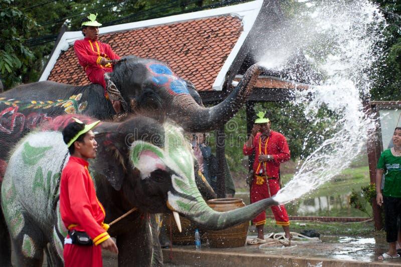 Wasserfestival in Thailand. lizenzfreies stockbild