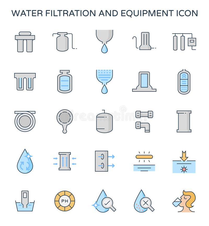 Wasserfiltrationsikone vektor abbildung