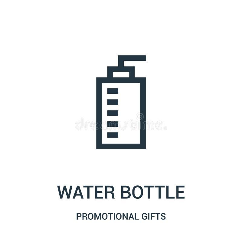 Wasserflaschen-Ikonenvektor von der fördernden Geschenksammlung Dünne Linie Wasserflaschen-Entwurfsikonen-Vektorillustration Line vektor abbildung