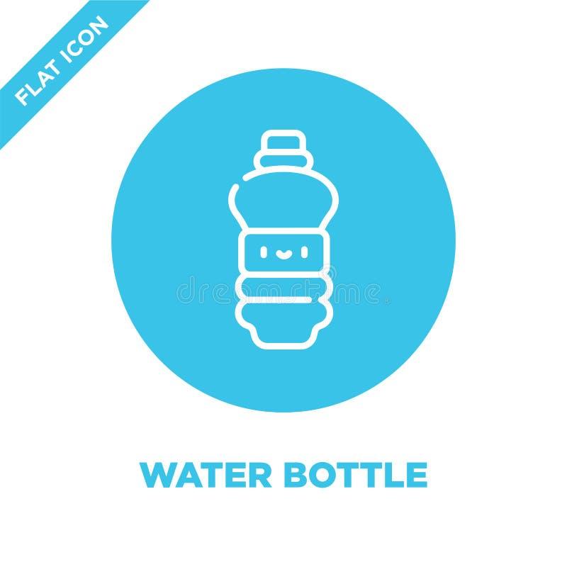 Wasserflaschen-Ikonenvektor von nehmen Sammlung weg Dünne Linie Wasserflaschen-Entwurfsikonen-Vektorillustration Lineares Symbol  stock abbildung