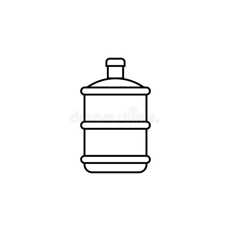 Wassergallonenikonenentwurfs-Schablonenvektor lokalisierte vektor abbildung