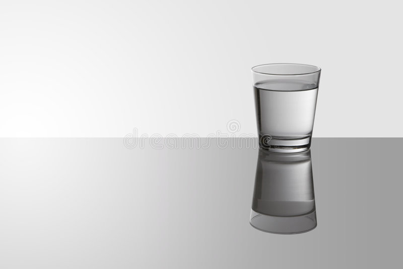 Wasserglas stockfotografie