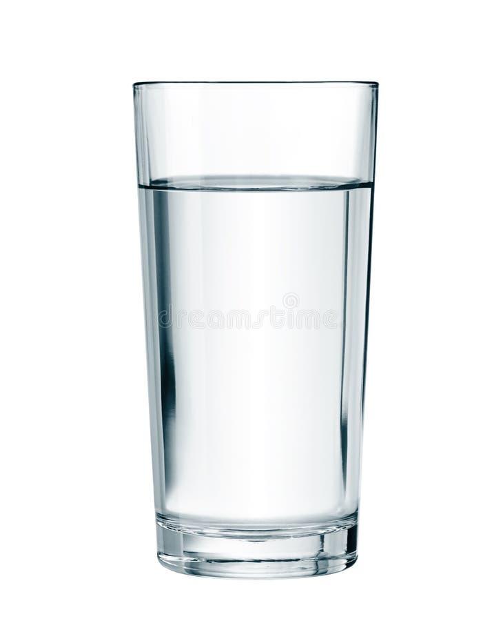 Wasserglas lokalisiert mit Beschneidungspfad lizenzfreie stockbilder