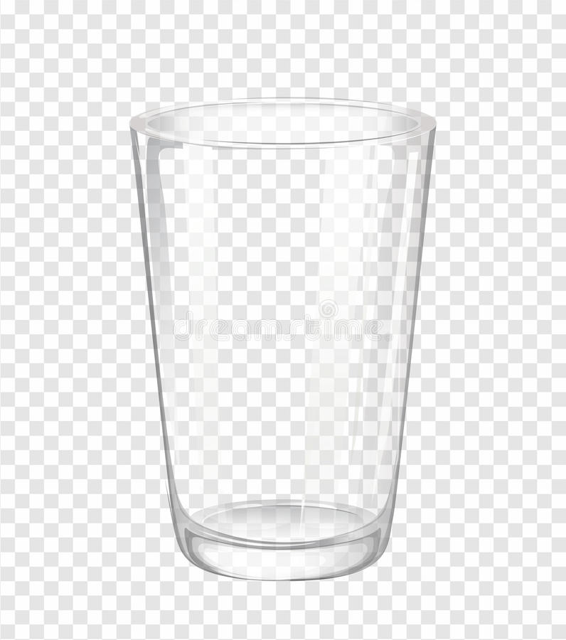 Wasserglas ohne Wasser stock abbildung