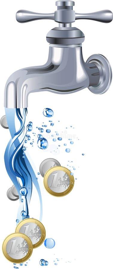 Wasserhahn. stock abbildung