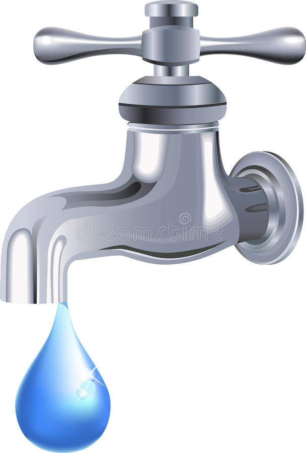Wasserhahn. Hahn. stock abbildung