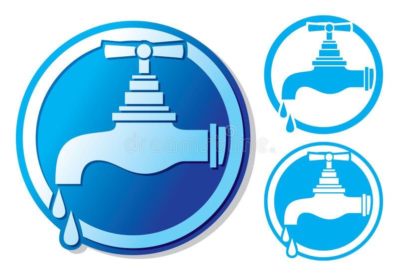 Wasserhahnsymbol lizenzfreie abbildung