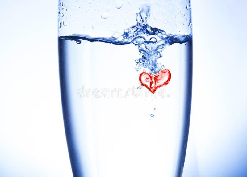 Wasserherz lizenzfreie stockfotos