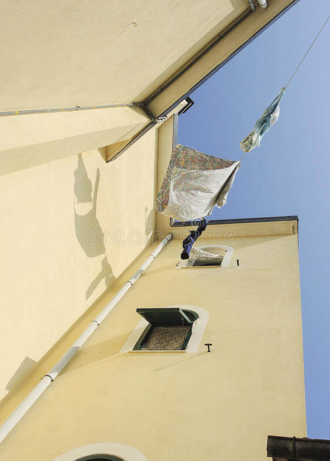 Wasserij in de wind stock foto