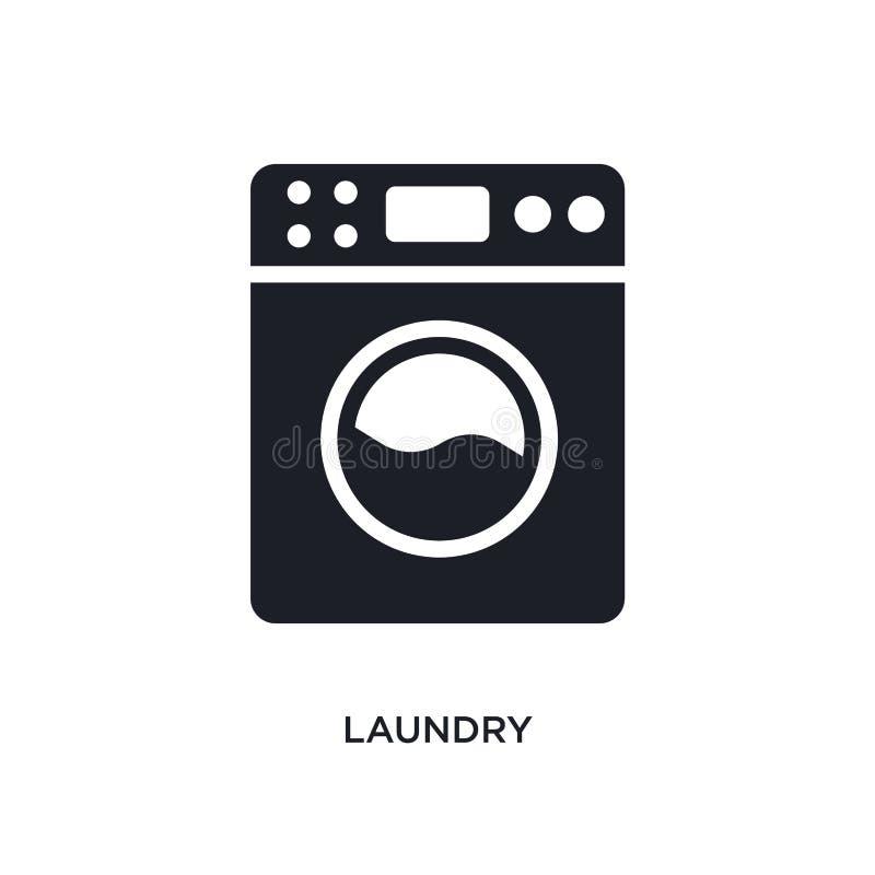 wasserij geïsoleerd pictogram eenvoudige elementenillustratie van het schoonmaken van conceptenpictogrammen ontwerp van het het t vector illustratie