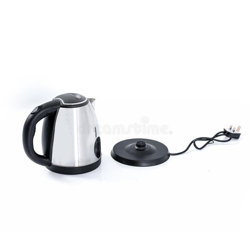 Wasserkocher mit EDELSTAHL-KÖRPER lizenzfreies stockbild