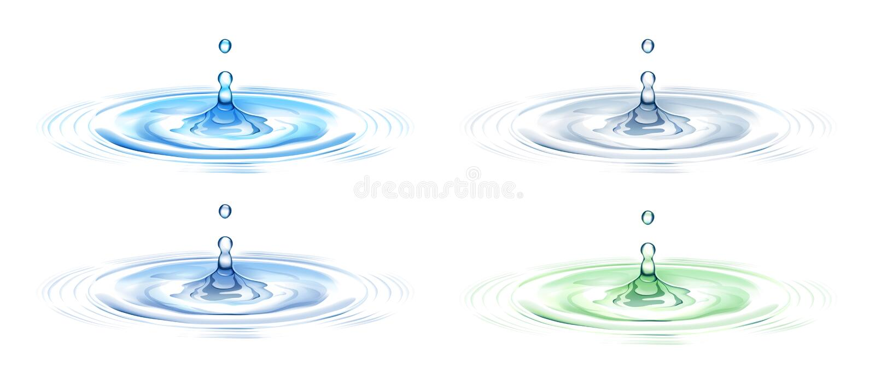 Wasserkräuselung stock abbildung