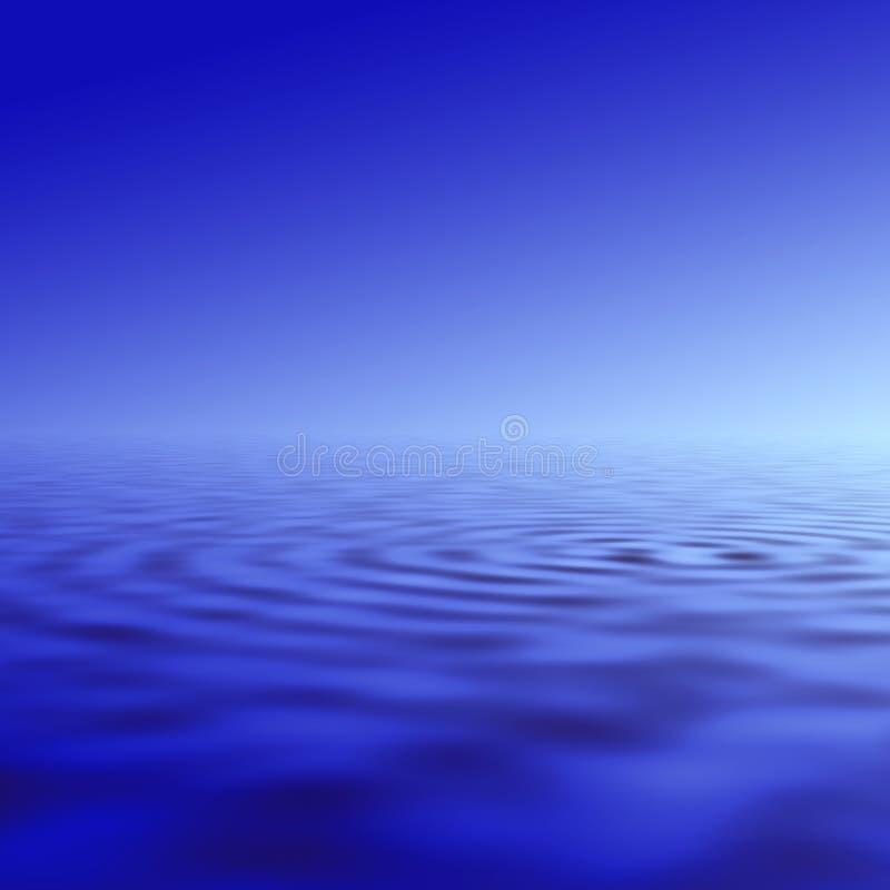 Wasserkräuselungabbildung stock abbildung