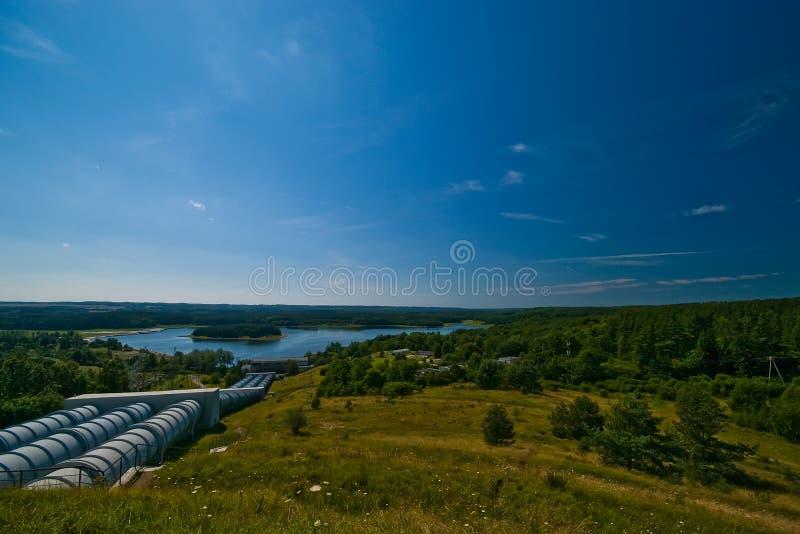 Wasserkrafttriebwerkanlage stockbilder