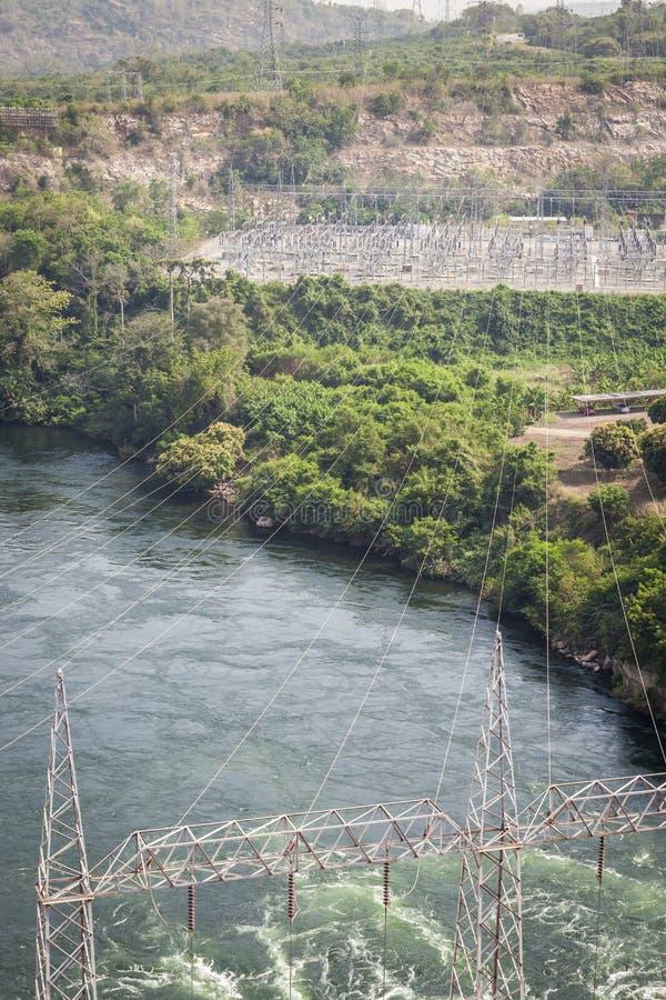 Wasserkraftwerk Akosombo auf dem Volta-Fluss in Ghana lizenzfreie stockbilder