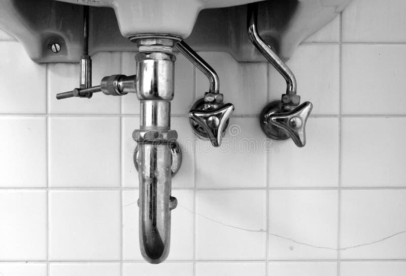 Wasserleitungen stockbilder