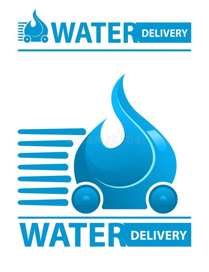 Wasserlieferungsikone stock abbildung