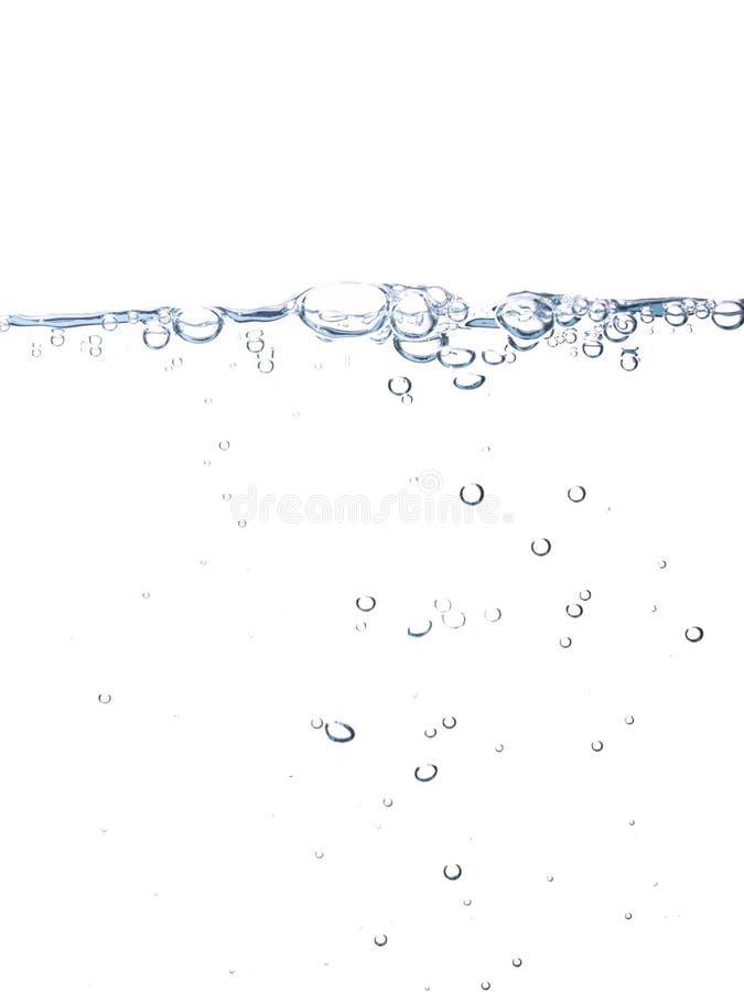 Wasserlinie mit Luftblasen stockbilder