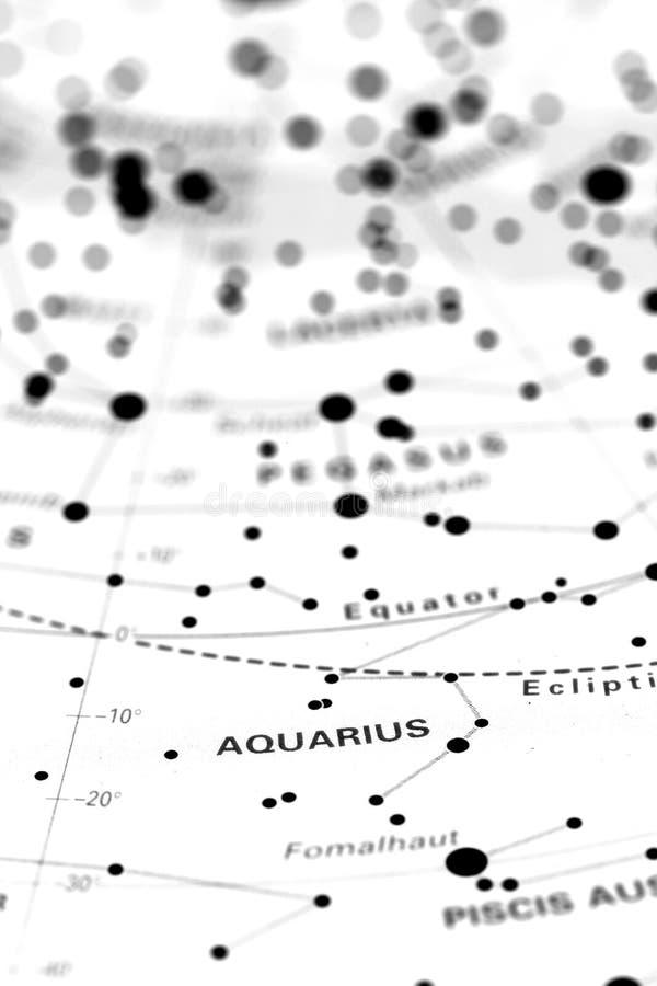 Wassermann auf sternkundlicher Karte B stockbild