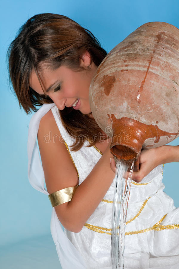 Wassermannfrau lizenzfreies stockbild