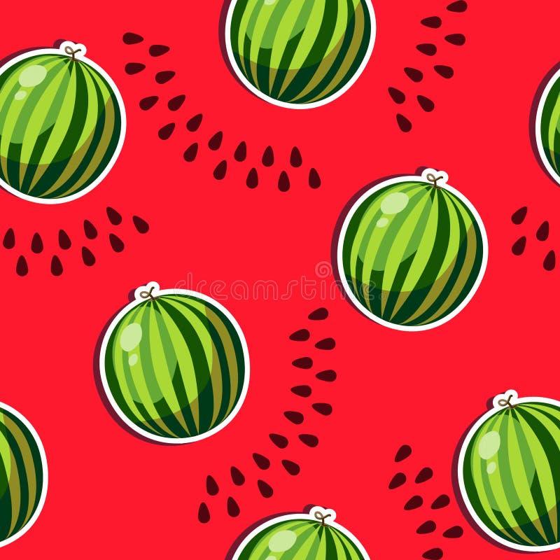 wassermelone stock abbildung