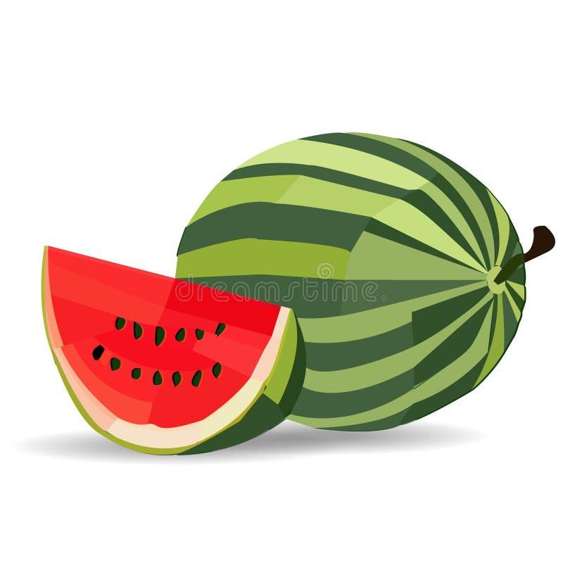 Wassermelone, Abstraktionsbild stockfoto