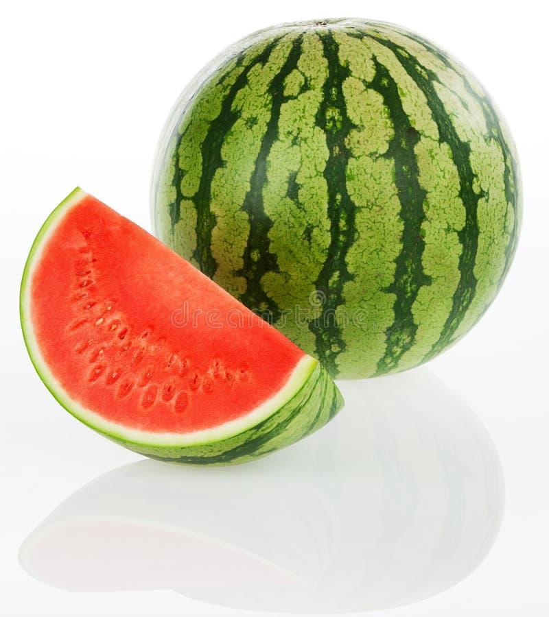 Wassermelone - getrennt auf weißem Hintergrund lizenzfreie stockfotografie