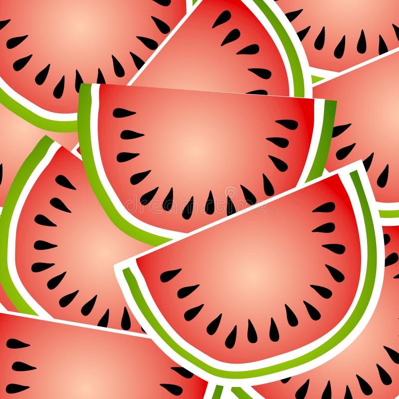 Wassermelone-Hintergrund-Muster vektor abbildung