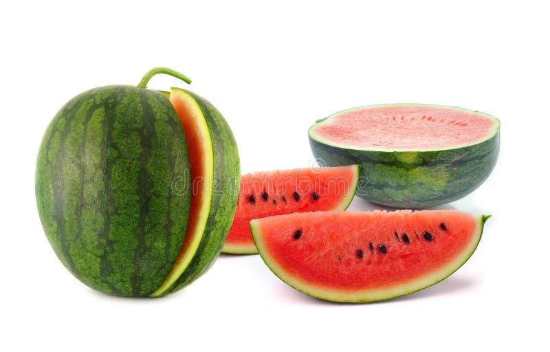 Wassermelone lokalisiert auf Weiß stockbilder