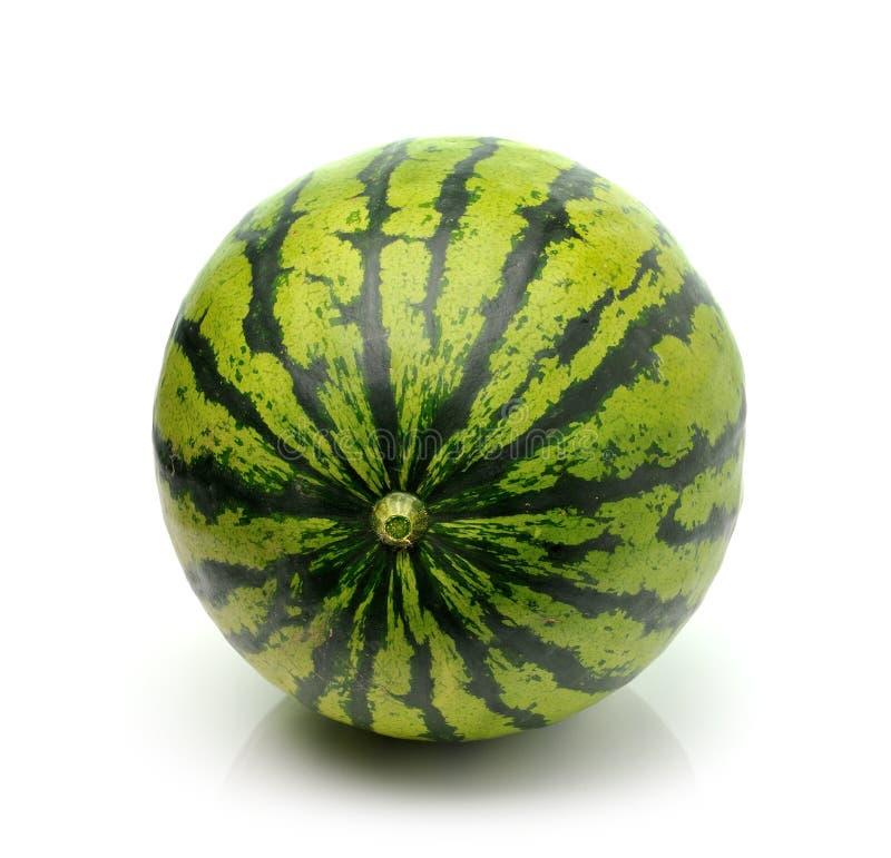 Wassermelone lokalisiert auf weißem Hintergrund lizenzfreie stockfotos