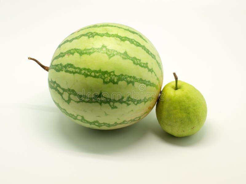 Wassermelone und Guajava lizenzfreies stockbild
