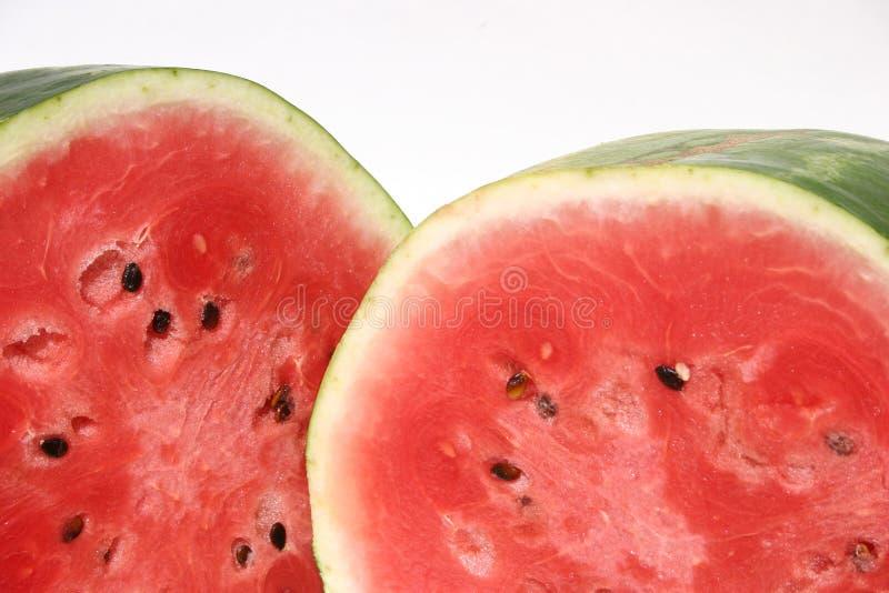 Wassermelonehälften stockfoto
