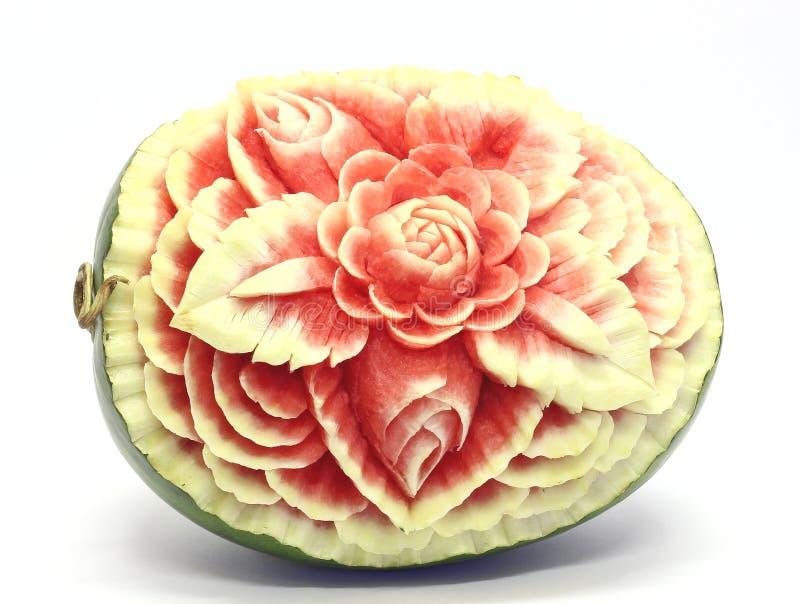 wassermelonen asiatisches frucht schnitzen stockfoto. Black Bedroom Furniture Sets. Home Design Ideas