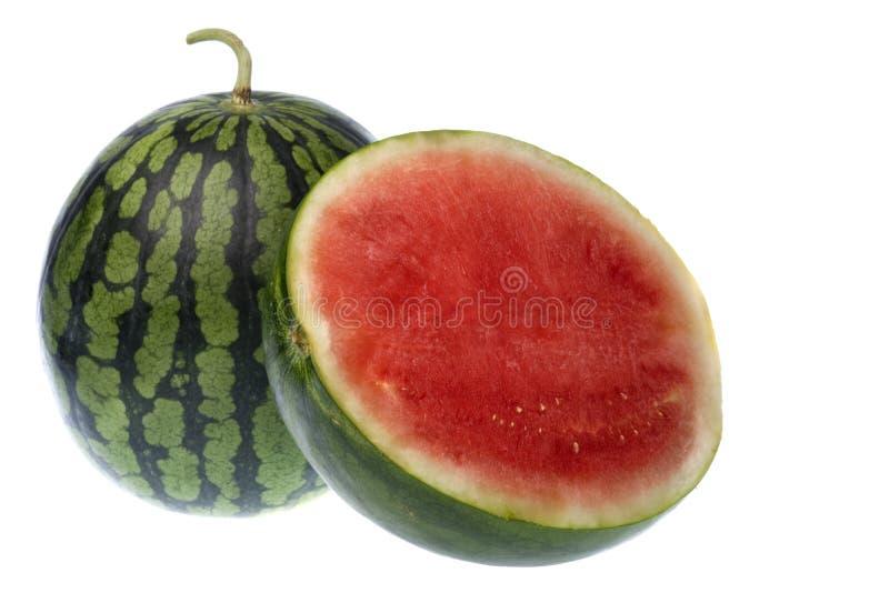 Wassermelonen getrennt lizenzfreie stockbilder