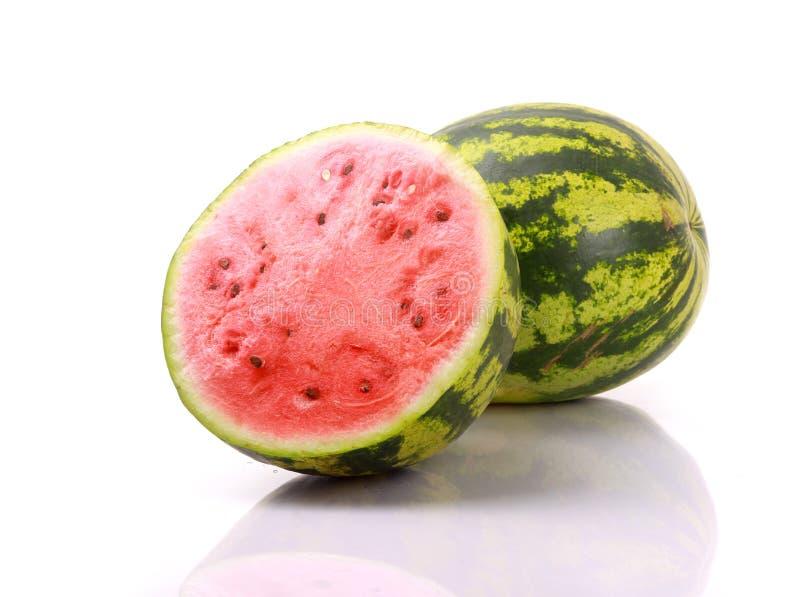 Wassermelonen getrennt auf Weiß stockbild