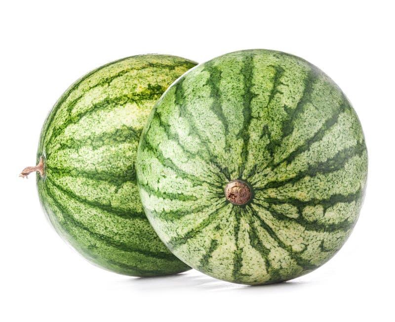 Wassermelonen getrennt auf Weiß stockfoto