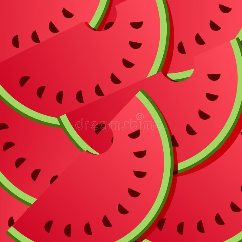 Wassermelonen-Hintergrund-Muster vektor abbildung