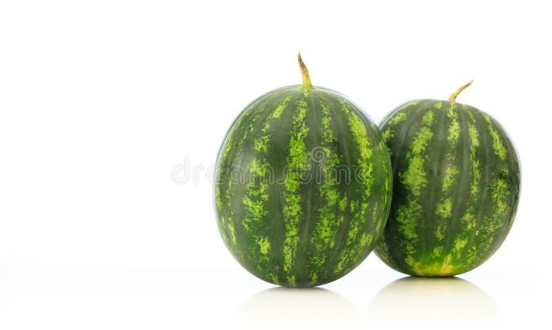 Wassermelonen lokalisiert auf weißem Hintergrund stockfotos