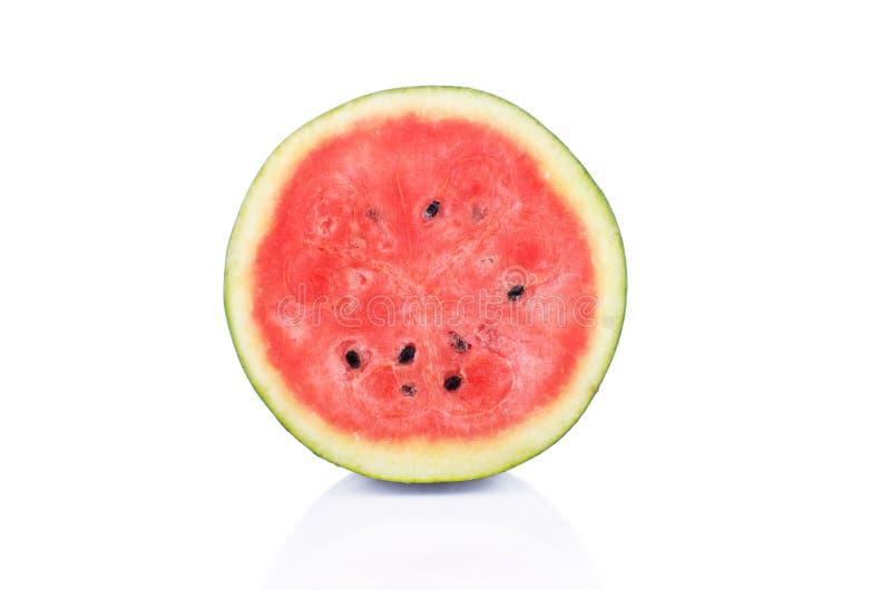 Wassermelonen-Scheibe auf wei?em Hintergrund lizenzfreie stockbilder