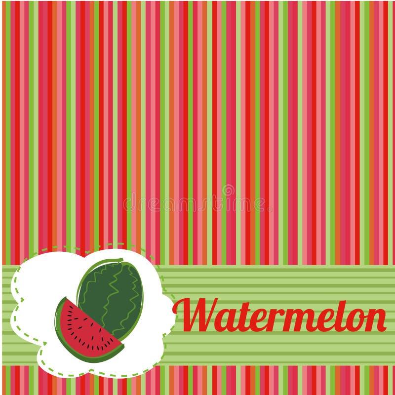 Wassermelonenhintergrund stock abbildung