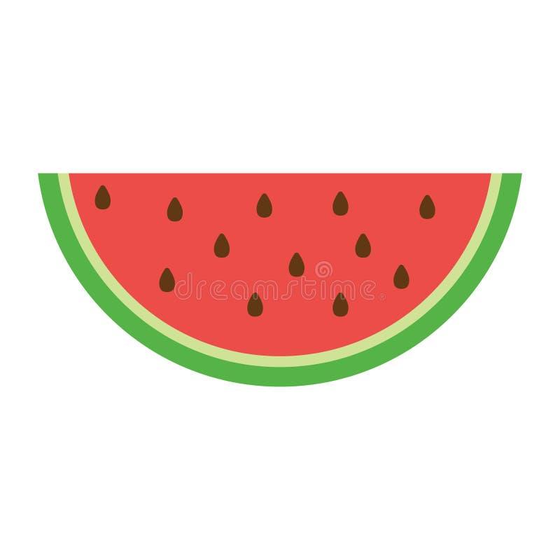 Wassermelonenikone in einer flachen Art vektor abbildung